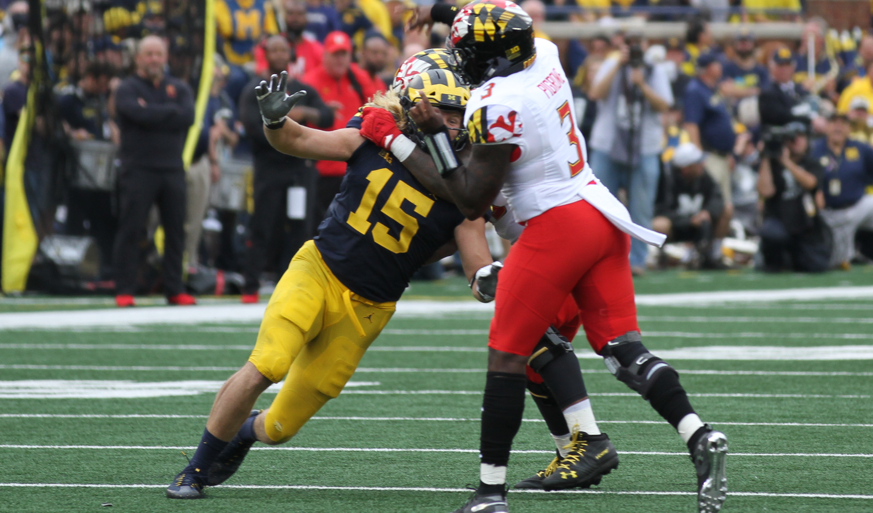 Chase Winovich getting held