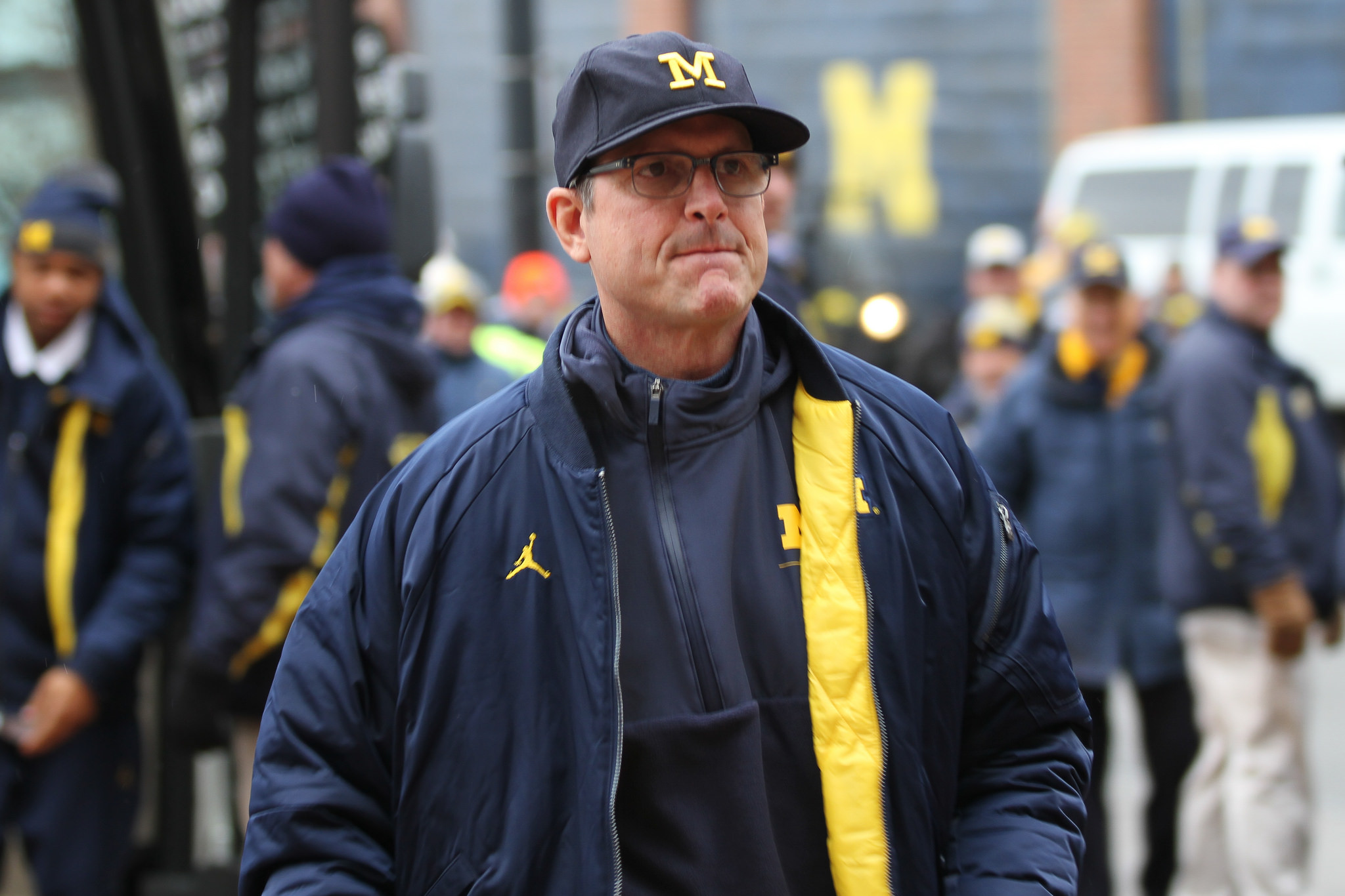 Jim Harbaugh spoke to the media after Michigan's win over Indiana
