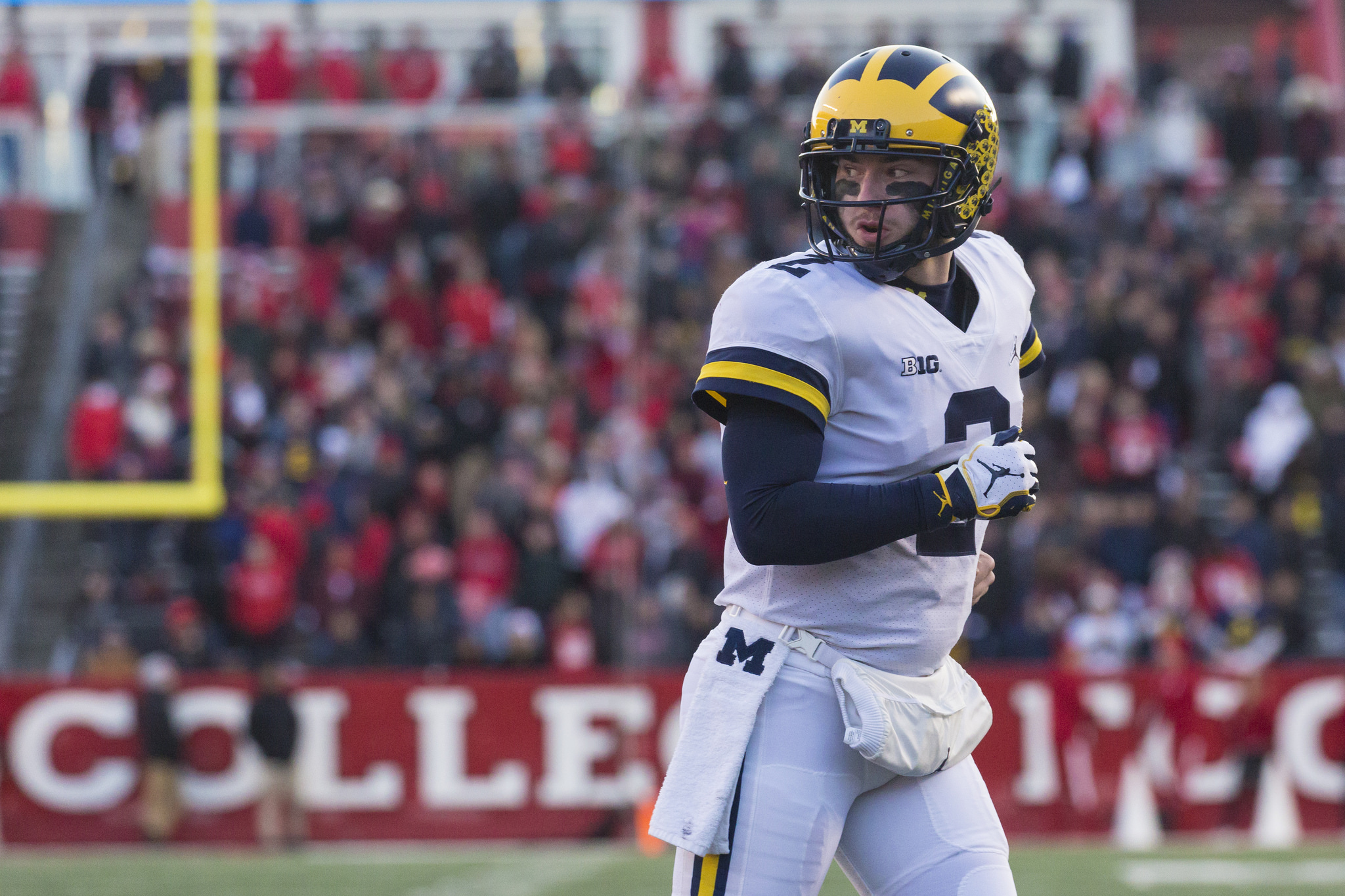 Shea Patterson and Jim Harbaugh have worked well this season