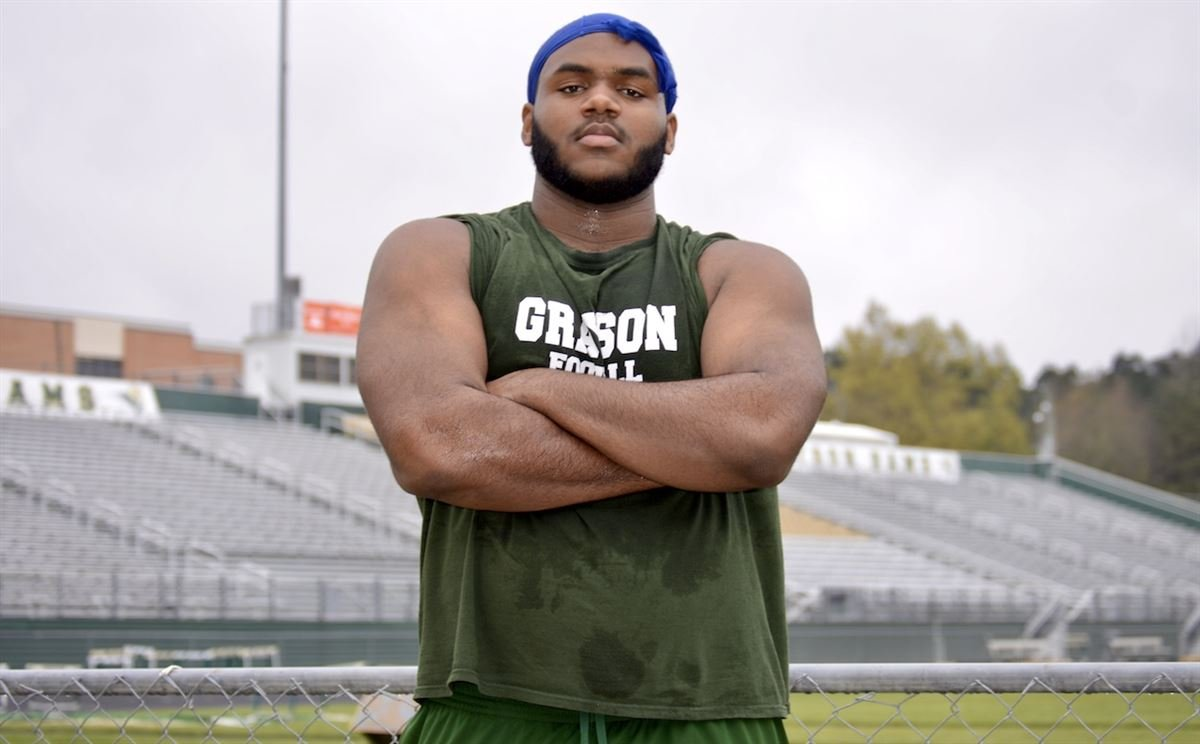 Grayson (GA) offensive lineman and Michigan commit Trente Jones