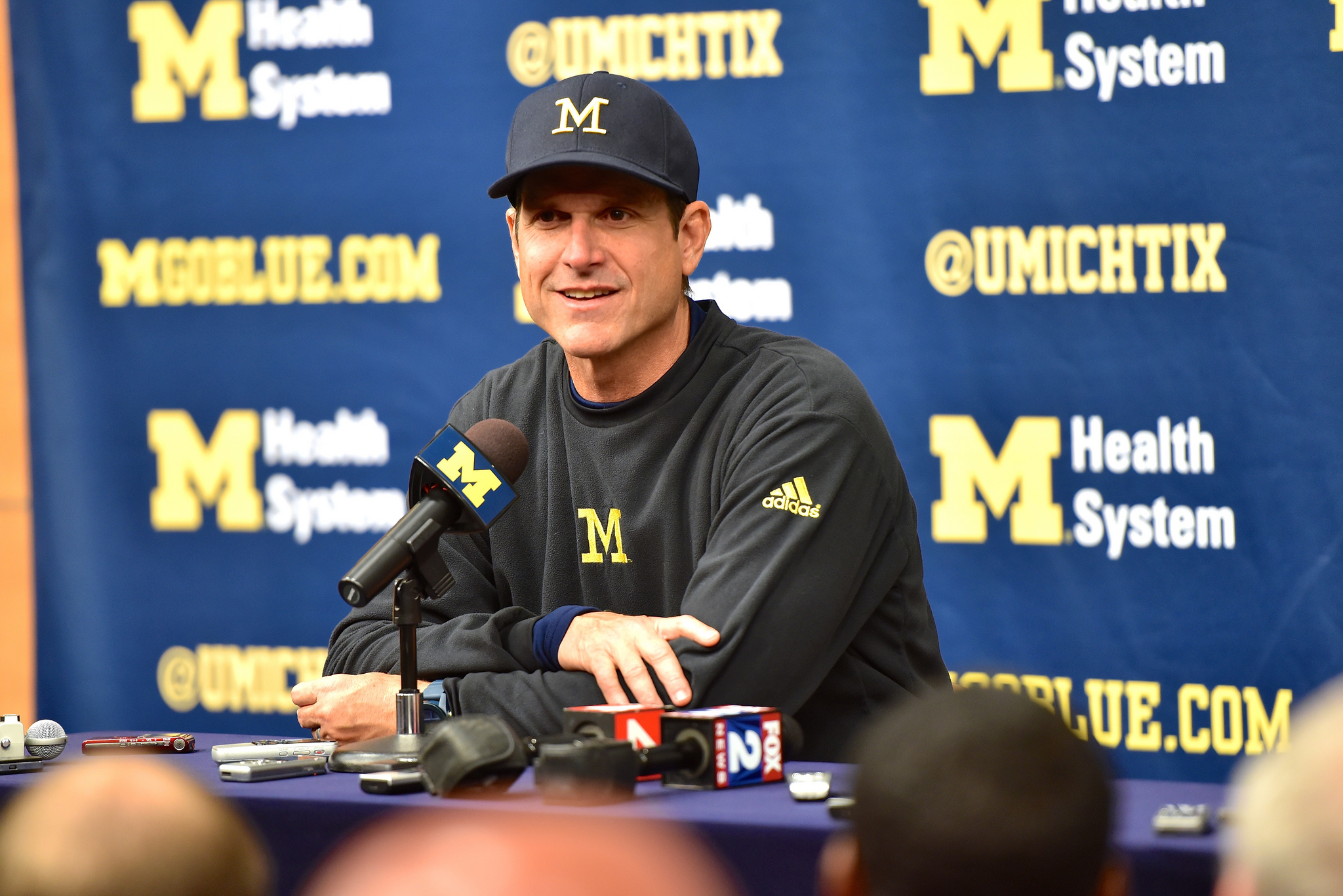 Jim Harbaugh answered questions from reporters Friday morning