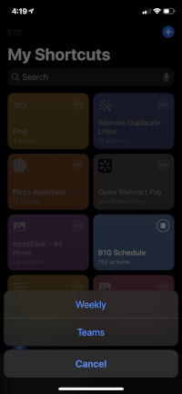 iOS Shortcut for B1G Schedules (download)   mgoblog