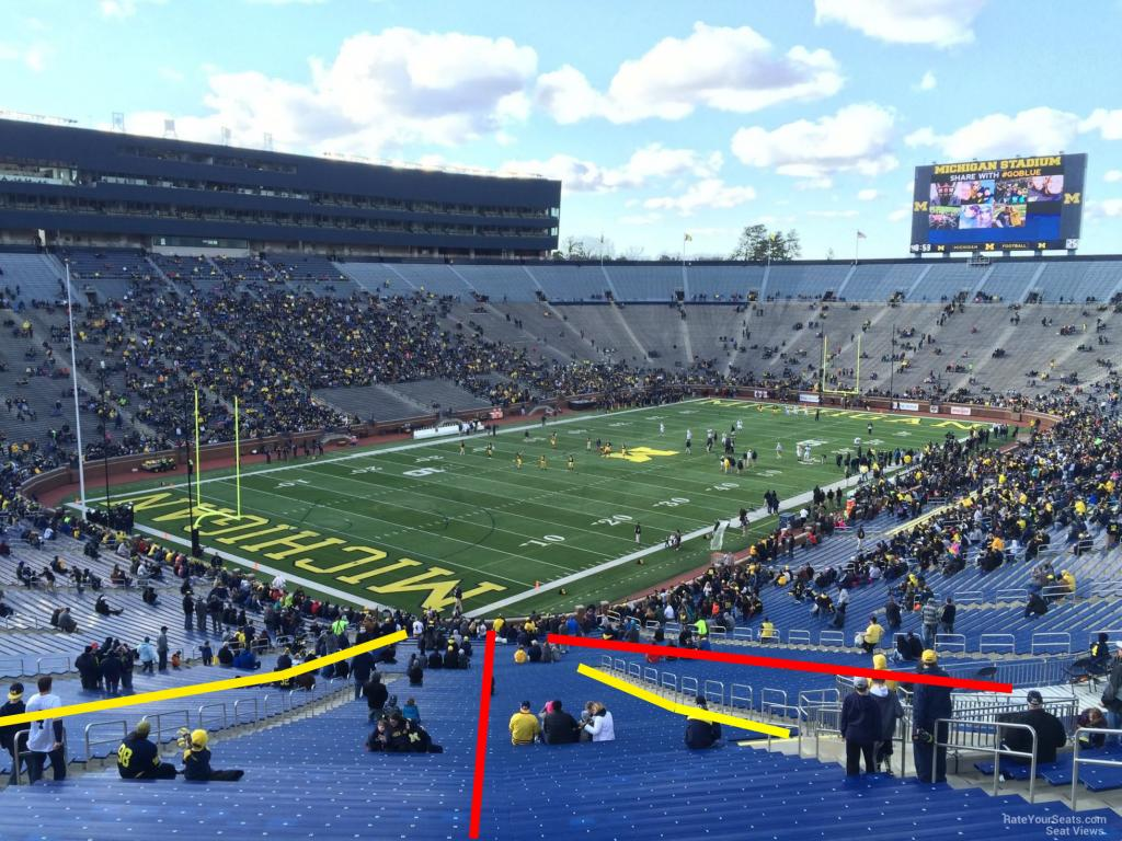 Looking For A Very Detailed Seatrow Map Of Michigan Stadium