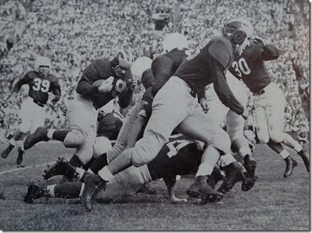 1948 Michiganesian Jack_Weisenberger_blocks_for_Bob_Chappuis_against_Stanford