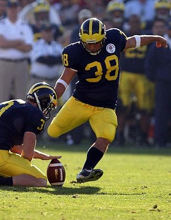 Image result for Garrett Rivas Michigan football