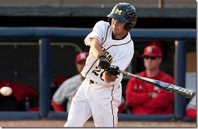 The University of Michigan baseball team lost to Nebraska, 15-2 at the Wilpon Baseball Complex in Ann Arbor, Mich, on  May 17, 2012.