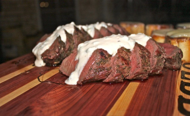 Grilled Venison Loin With Horseradish Cream Sauce Recipes ...