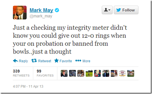 Mark May Hates OSU