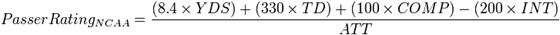 NCAA QB Rating Form