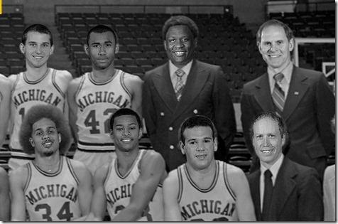Retro Michigan Basketball Wallpaper-closeup
