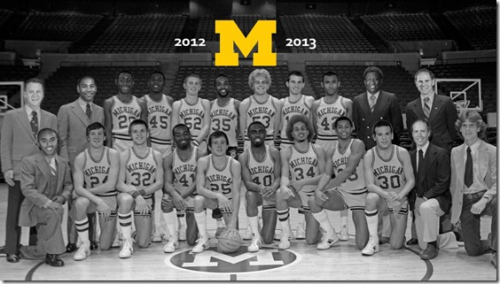 Retro Michigan Basketball Wallpaper