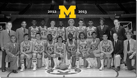 Retro Michigan Basketball Wallpaper