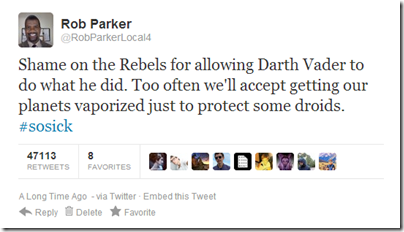 Rob Parker did not tweet this 3