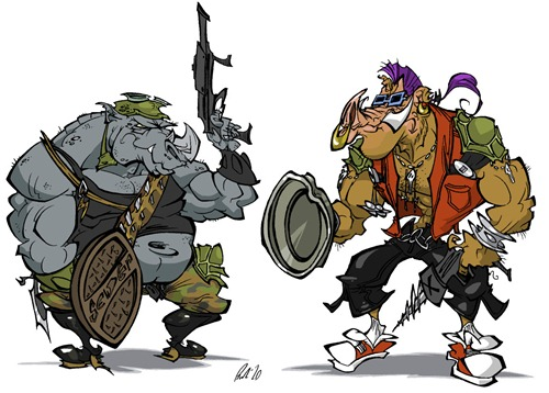 Rocksteady_and_Bebop_by_BrendanCorris