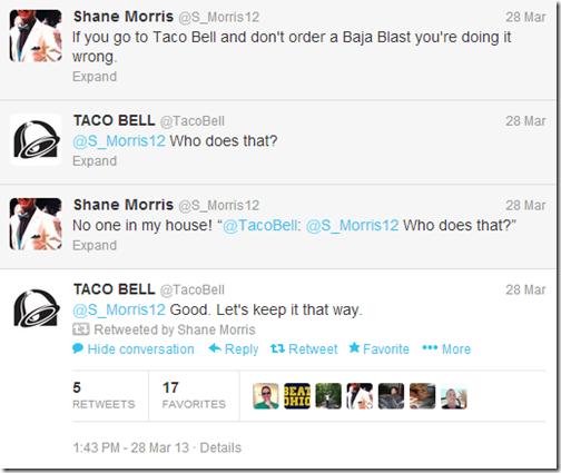 Shane Taco Bell