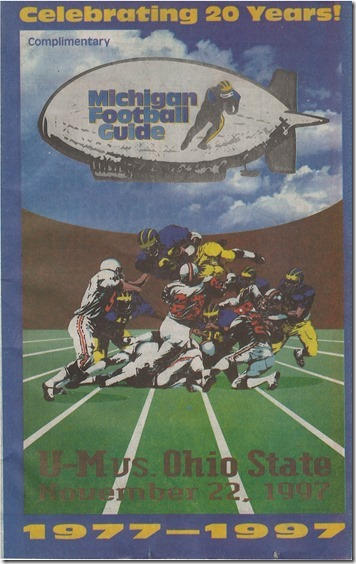 UMvsOSU Program 1997 - Cover