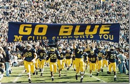 football_team U of Michigan