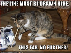 line drawn