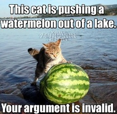 the_cat_is_pushing_a_watermelon_out_of_a_lake