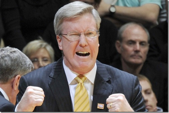 Jan 27, 2013; West Lafayette, IN, USA; Iowa Hawkeyes head coach Fran McCaffery during the 2nd half against the Purdue Boilermakers atMackey Arena.   Mandatory Credit: Sandra Dukes-USA TODAY Sports