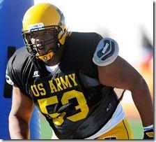 U.S. Army All-American Bowl West Team defensive lineman Ondre Pipkins (53) during the Monday West Team Practice for the 2012 U.S. Army All-American Bowl at Comalander Stadium in San Antonio Texas.
