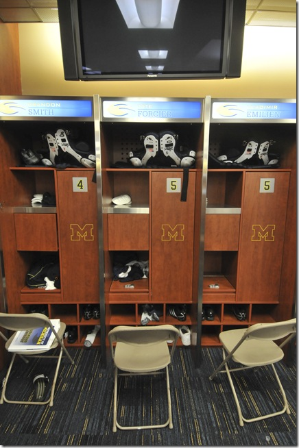 University of Michigan's new practice facility was unveiled on August, 10th 2009. Among the new facilities was a new field and locker room August, 10th 2009. (SAM WOLSON/Daily)