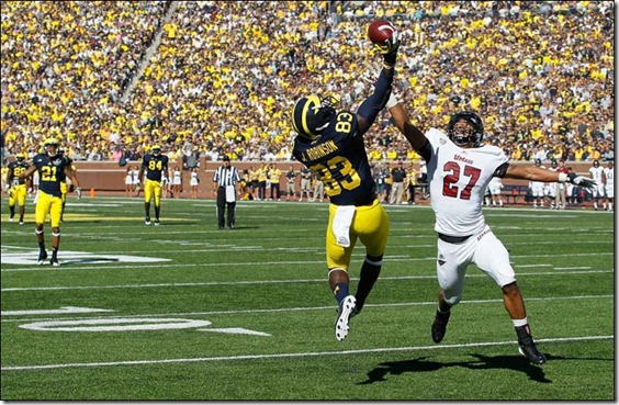 University-of-Michigan-player-Jerald-Robinson-83[1]