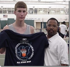 Evan Smotrycz with Lamar Barrett