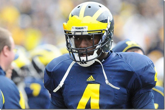 Freshman safety Cameron Gordon plays in Michigan's spring football game on Saturday, April 17, 2010 at the Big House.  (ARIEL BOND/Daily)
