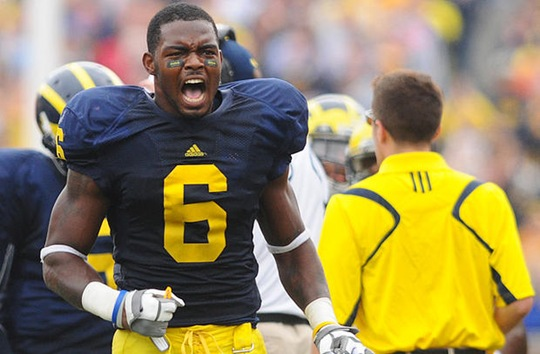 cornerback Donovan Warren (6) plays against Indiana at the Big House in Ann Arbor on September 26th 2009.  Michigan won the game, 36-33. (Said Alsalah/Daily)