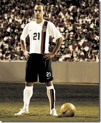 Landon Donovan in the USA's new home kit.