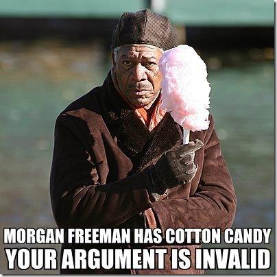 morgan-freeman-argument is invalid