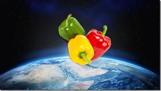 peppers in space