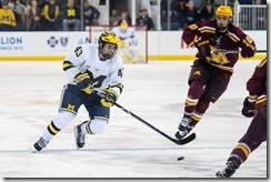 In a game against Minnesota on Friday at Yost Ice Arena (Ryan McLoughlin/2017)