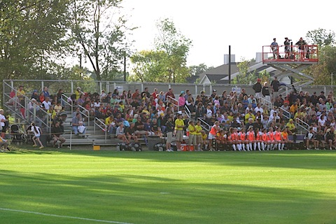 Crowd near the start of the game.
