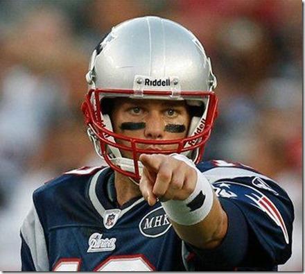 tom brady pointing